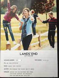 land s end clothing gift voucher value