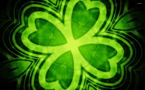 four leaf clover wallpaper abstract