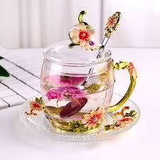 heat resistant glass tea cups