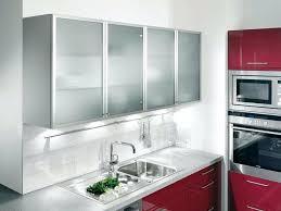 aluminum frame glass kitchen cabinet