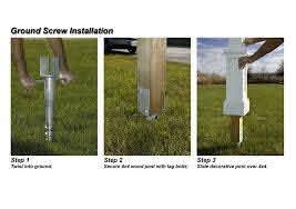 Mayne 4x4 Ground Screw For Mailbox Posts Mailbox Installation Diy Fence Concrete Fence Posts