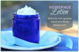 homemade lotion a natural hand and