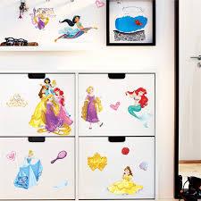 Cartoon Princess Mermaid Fairy Children Kids Bedroom Cup Decoration Wall Stickers Decal Art Mural Diy Girls Gift Wall Stickers Aliexpress