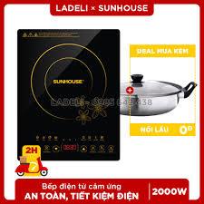 Bếp từ cảm ứng SUNHOUSE SHD6800 nấu cực nhanh, Giá tháng 10/2020
