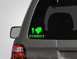 I Heart Zombies Vinyl Car Decal Macbook Decal Laptop Decal Etsy
