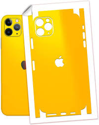 Amazon Com Sopiguard Sticker Skin For Iphone 11 Pro Max Precision Edge To Edge Vinyl Decal 3m Gloss Yellow