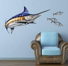 Blue Marlin Wall Decal Bold Wall Art