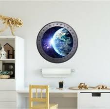 Earth 3 Wall Decal Space Porthole Window Vinyl Sticker Space Wall Art Portscape Ebay