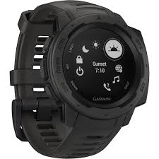 Garmin Instinct Outdoor GPS Watch (Graphite) 010-02064-00 B&H