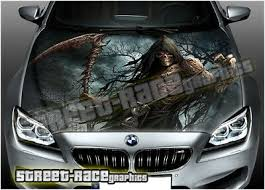Vinyl Car Hood Wrap Full Color Graphics Decal Superman Laser Sight Chain Sticker