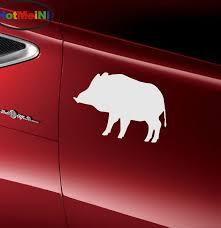 Hotmeini Robust Wild Boar Hunting Life Art Car Stickers Bumper Door Kayak Motorcycle Automotive Exterior Vinyl Decal 10 Colors A133