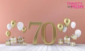 seven 70th birthday gift ideas
