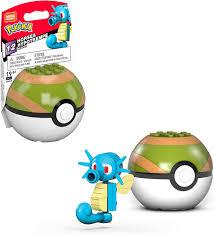 Amazon.com: Mega Construx Pokémon Horsea: Toys & Games