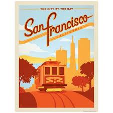 San Francisco California Cable Car Decal At Retro Planet