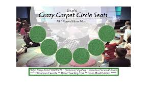 Children S Crazy Carpet Circle Seats Leap Frog Green