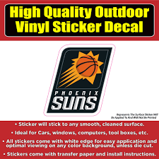 Phoenix Suns Basketball Vinyl Car Window Laptop Bumper Sticker Decal Colorado Sticker