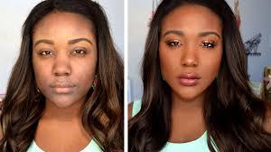 natural makeup for dark skin tutorial