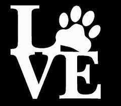 White Love Paw Vinyl Decal Sticker For Car Laptop For Cat Or Dog Lover Ebay