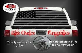 American Flag Black And Grey Rear Window Graphic Tint Decal Etsy