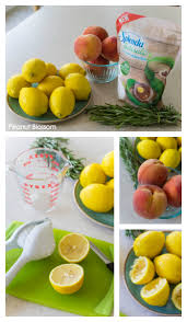 easy rosemary peach lemonade