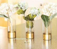 glass cylinder vases gold dipped vase