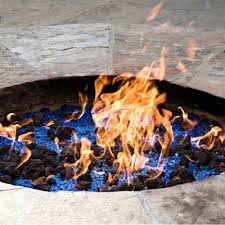 lava rock natural stones fire pit