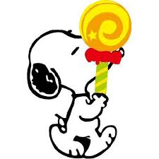 Snoopy Eating Lollipop The Peanut Family Colored Cartoon Character Wall Art Sticker Vinyl Decals Girls Boys Children Baby Bedroom House School Wall Decor Sticker Peel And Stick Size 30x15 Inch Walmart Com