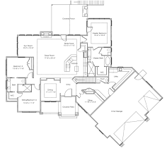 single story house plan with basement