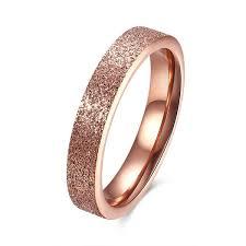 women rose gold snless steel rings