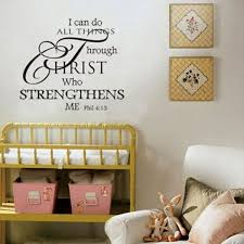 Hot I Can Do All Things Through Christ Bible Verse Vinyl Quote Wall Decal Mural Quotes Words Wall Sticker Wish
