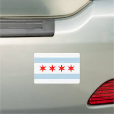 Chicago Flag Bumper Stickers Decals Car Magnets Zazzle