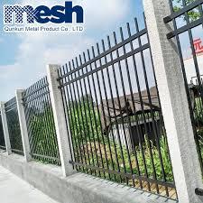 China Tubular Steel Galvanize Light Weight Fence China High Quality Steel Fence Black Wrought Iron Fence