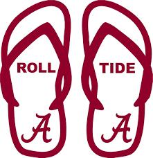 Alabama Crimson Tide Football Flip Flop Car Truck Window Vinyl Decal