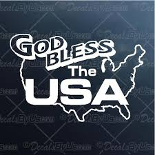 Best Buys On God Bless The Usa Car Window Decals