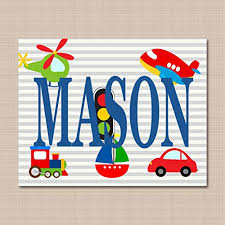 Transport Name Art Kids Name Wall Art Boy Baby Gift Transportation Nursery Wall Art Boy Name Wall Art Transportation Kids Room Decor 8x10 Unframed Print Not Canvas C305 Daily Deals Daily Deals