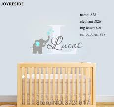 Custom Personalized Name Decal Wall Decals Baby Bedroom Elephant Vinyl Deorl Kid Boys Girls Room Name Nursery Decoration Xy001 Y200102 Wall Saying Decals Wall Sayings From Shanye09 18 43 Dhgate Com