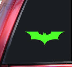 Batman Begins The Dark Knight Vinyl Decal Sticker Lime Green Daniel A Welshert