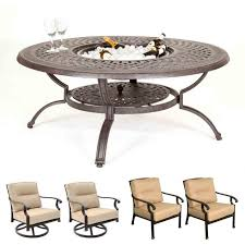 chair fire pit furniture set fireplace
