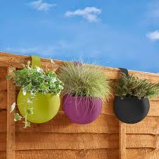 Wilko Green Terracotta Hanging Plant Pot Wilko