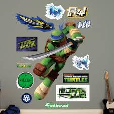 Fathead Nickelodeon Teenage Mutant Ninja Turtles Leonardo Peel And Stick Wall Decal Wayfair