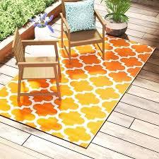 white and orange rug