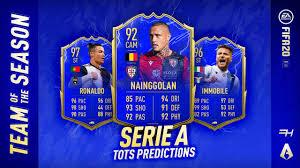 FIFA 20 TOTS Predictions - Serie A - Futhead News