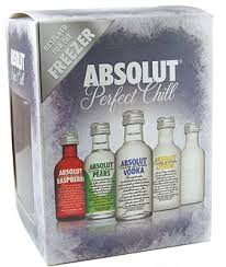 miniature gift set absolut vodka
