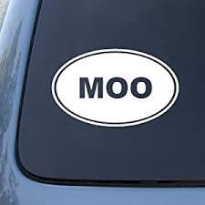 Amazon Com Moo Cow Farm Vinyl Car Decal Sticker 1542 Vinyl Color White Automotive