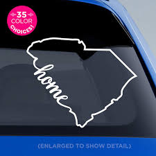 Amazon Com South Carolina State Home Decal Sc Home Car Vinyl Sticker Add A Heart Over Charleston Columbia Mount Pleasant Rock Hill Greenville Summerville Myrtle Beach Made With Outdoor Vinyl Handmade