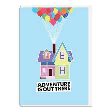 up adventure is out there quote minimal greetings card propacushty