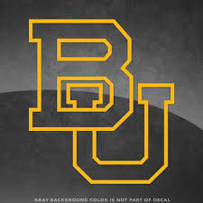 Baylor Bears Bu Logo Vinyl Decal Sticker 4 Size And Up More Colors Ebay