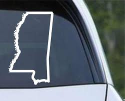 Mississippi State Outline Ms Usa America Die Cut Vinyl Decal Sticker Decals City