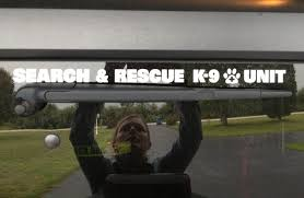 Window Decal Reflective Die Cut Search Rescue K 9 Unit