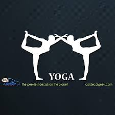 Yoga Women Car Decal Graphic Window Stickers